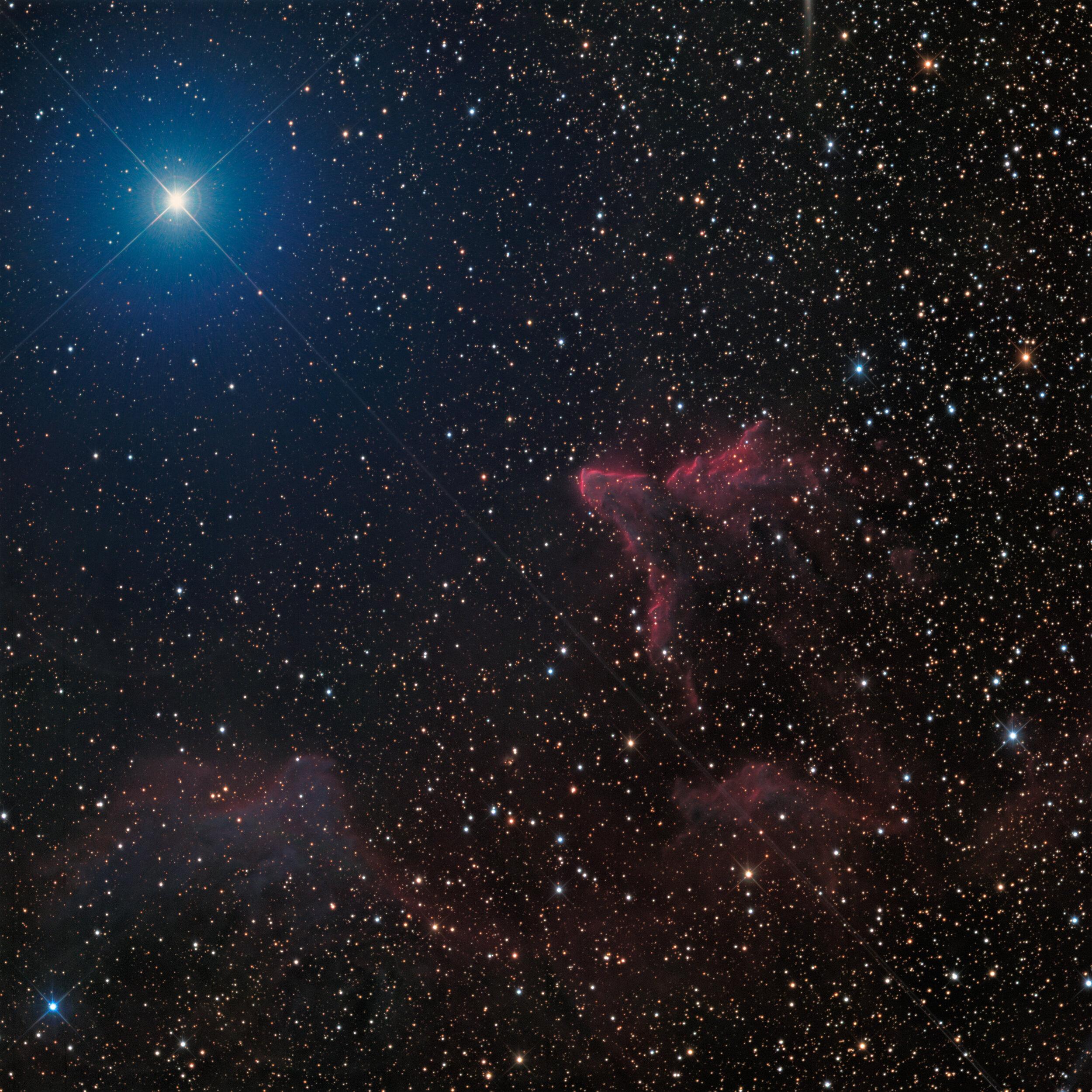 IC 59 and IC 63 in Cassiopeia Astrophotography Martin Rusterholz
