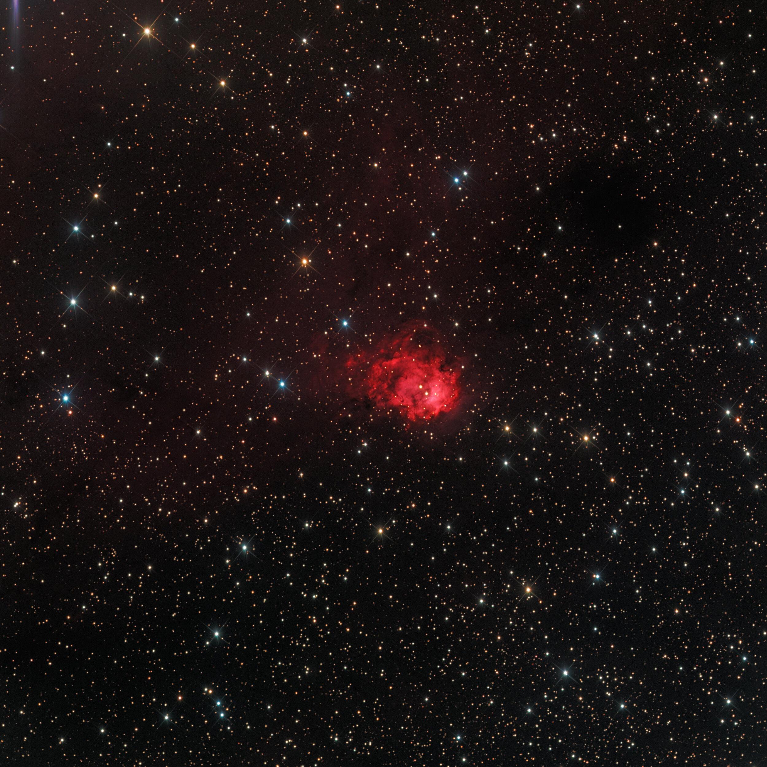 Northern Logoon Nebula (NGC 7538) Astrophotography Martin Rusterholz