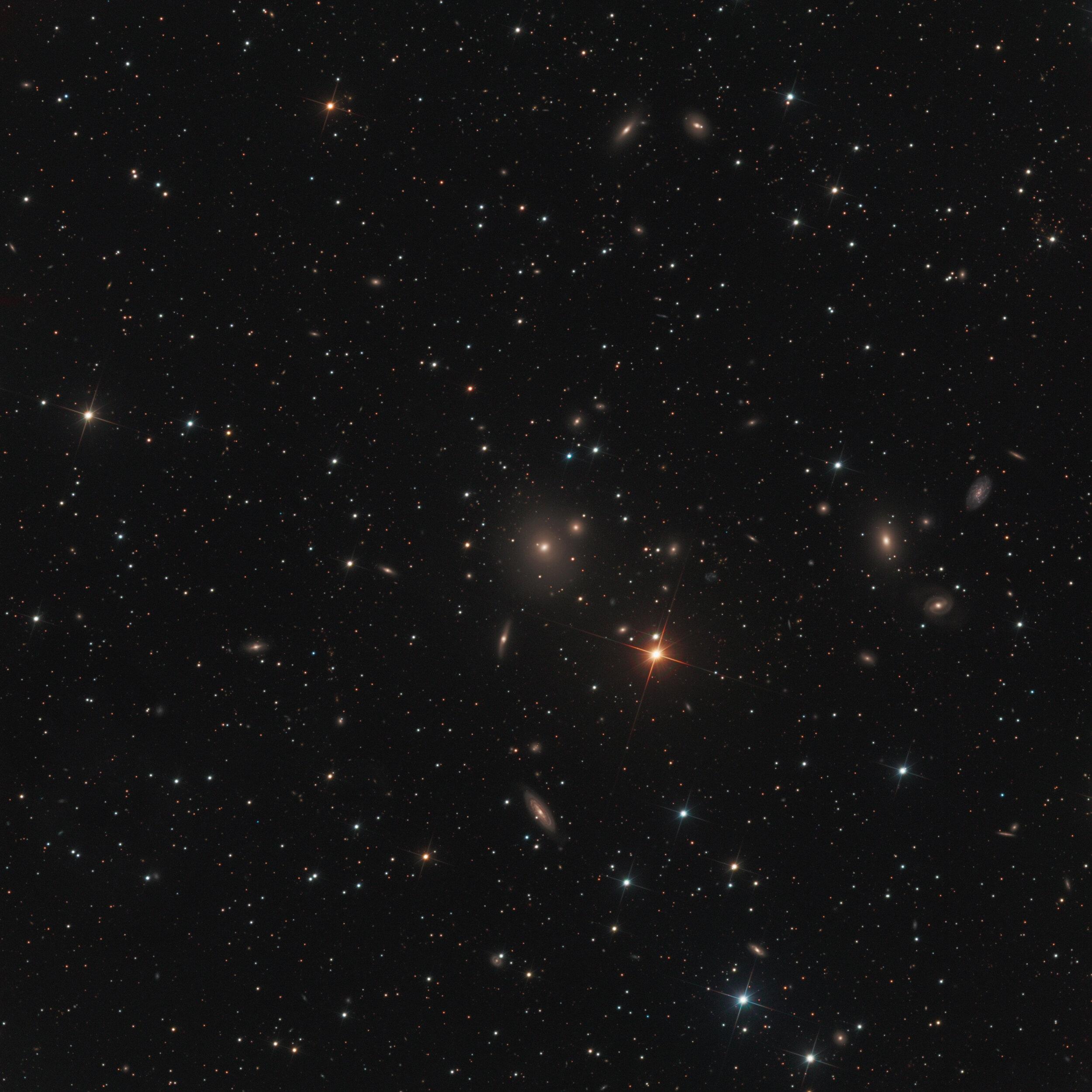 NGC 507 Galaxy Group Astrophotography Martin Rusterholz