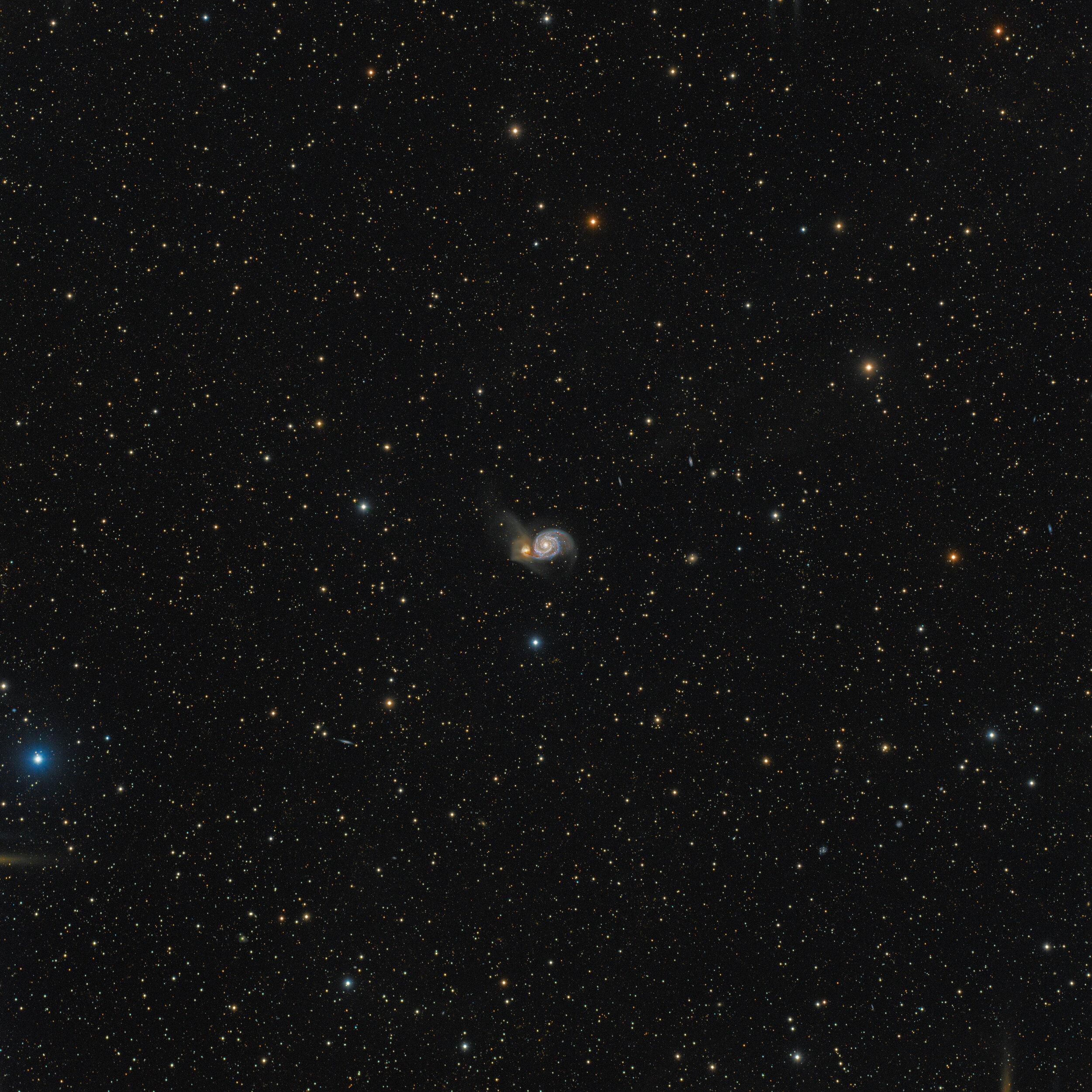 Whirlpool Galaxy (M51) Astrophotography Martin Rusterholz