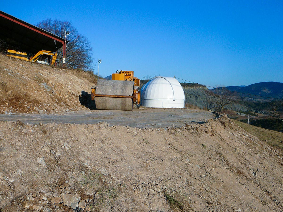 Roll-off Roof Observatory Martin Rusterholz Levelling the Place for the Observatory