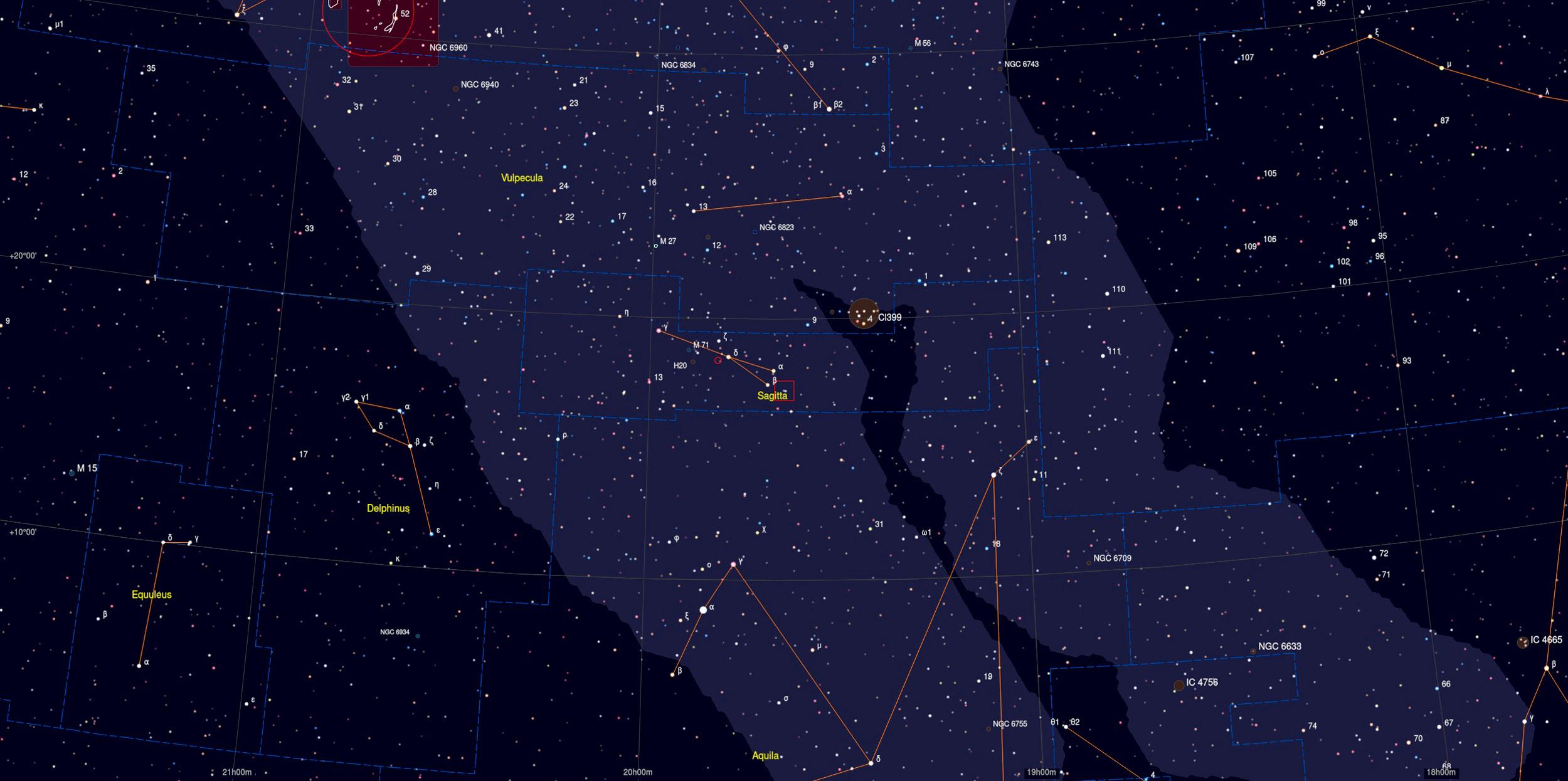 3C 400.2 Sky Chart - Astrophotography Martin Rusterholz