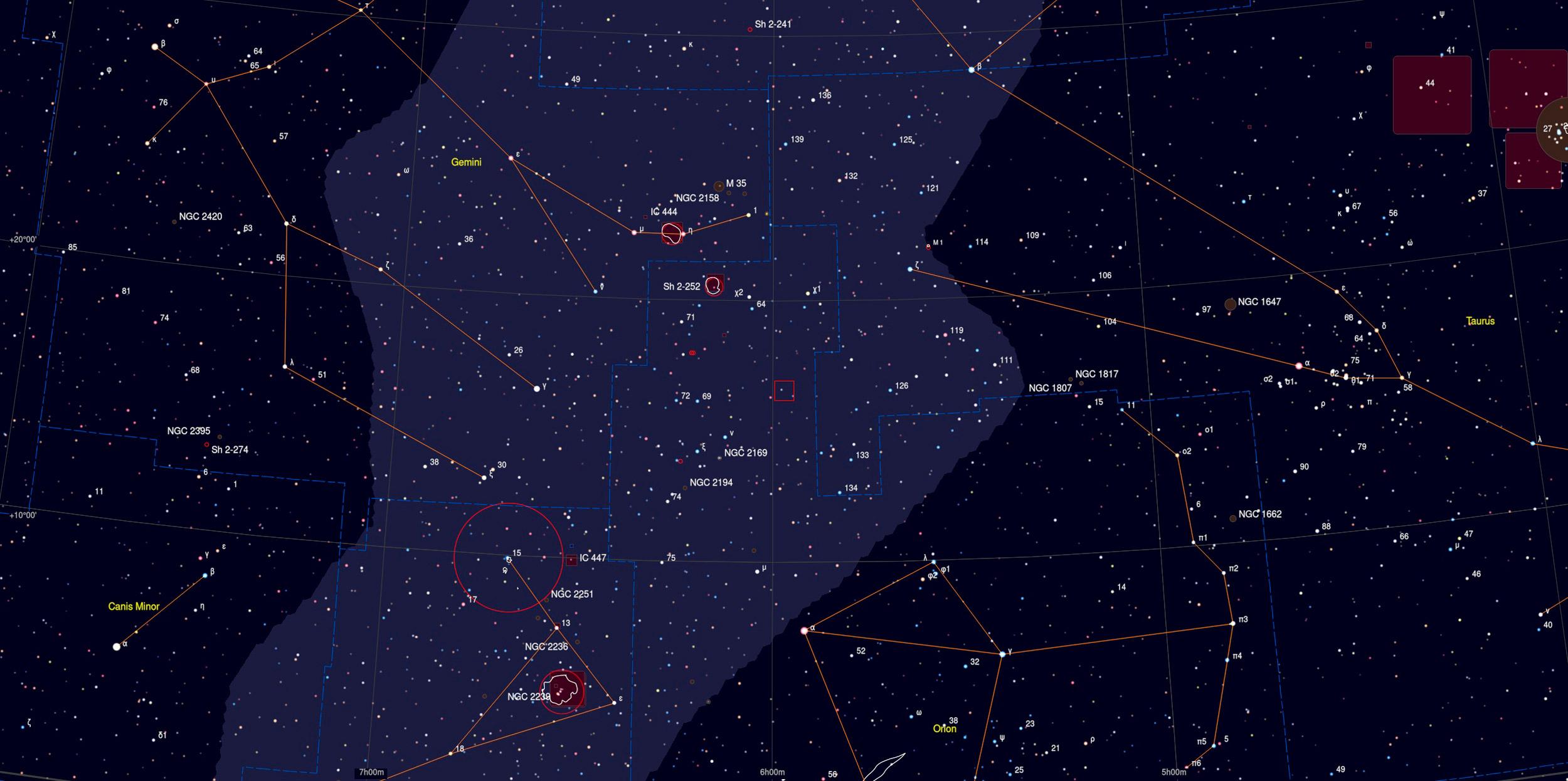 AFGL 5173 Nebula Sky Chart - Astrophotography Martin Rusterholz
