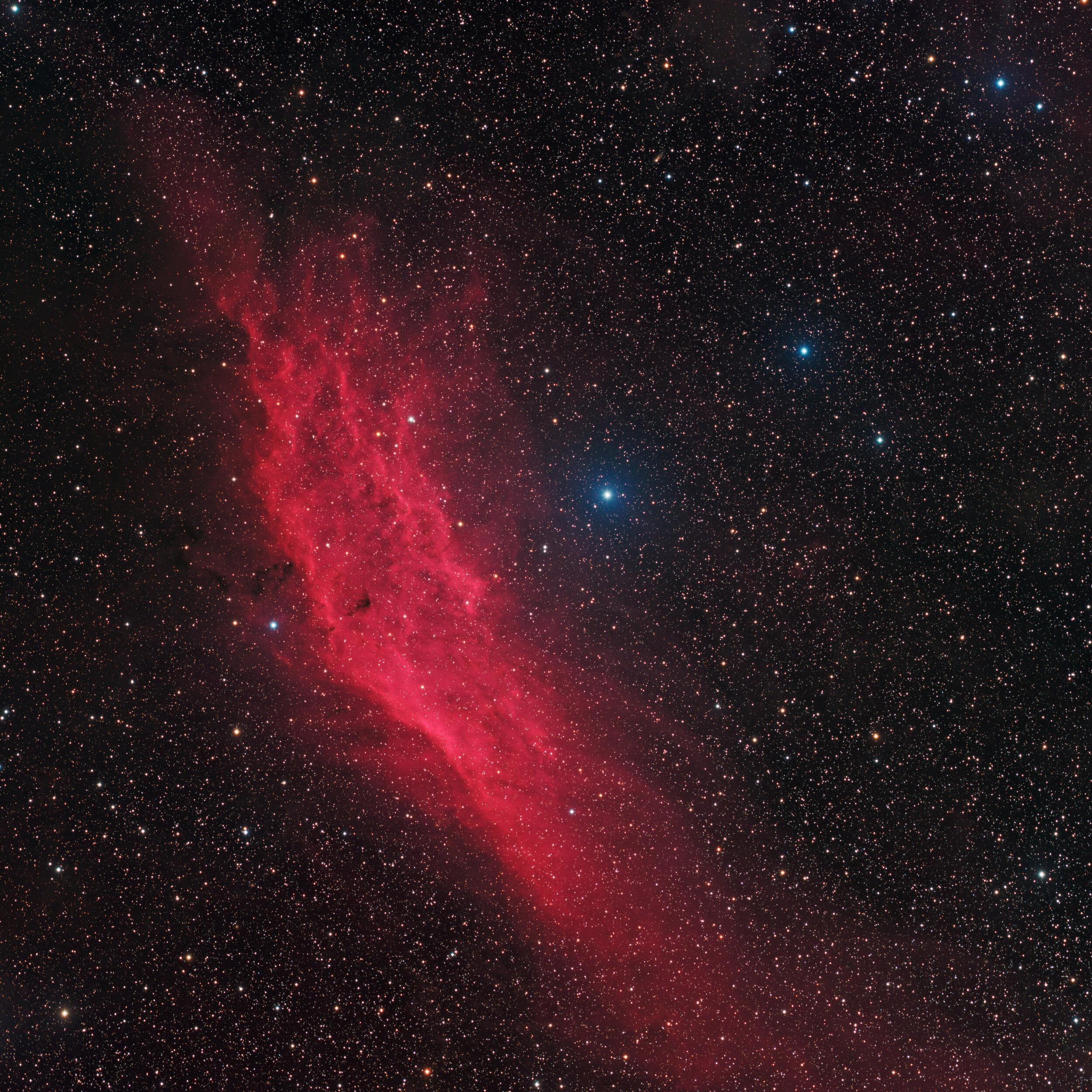 California Nebula NGC 1499 - Astrophotography Martin Rusterholz