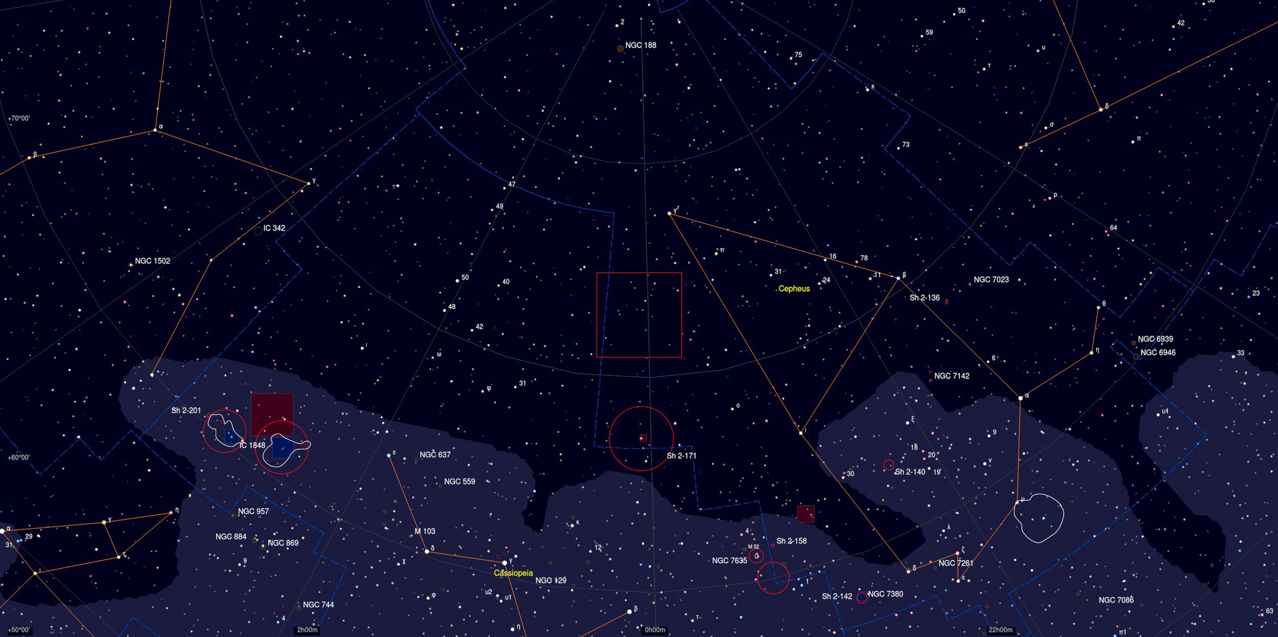 CTA 1 Sky Chart - Astrophotography Martin Rusterholz