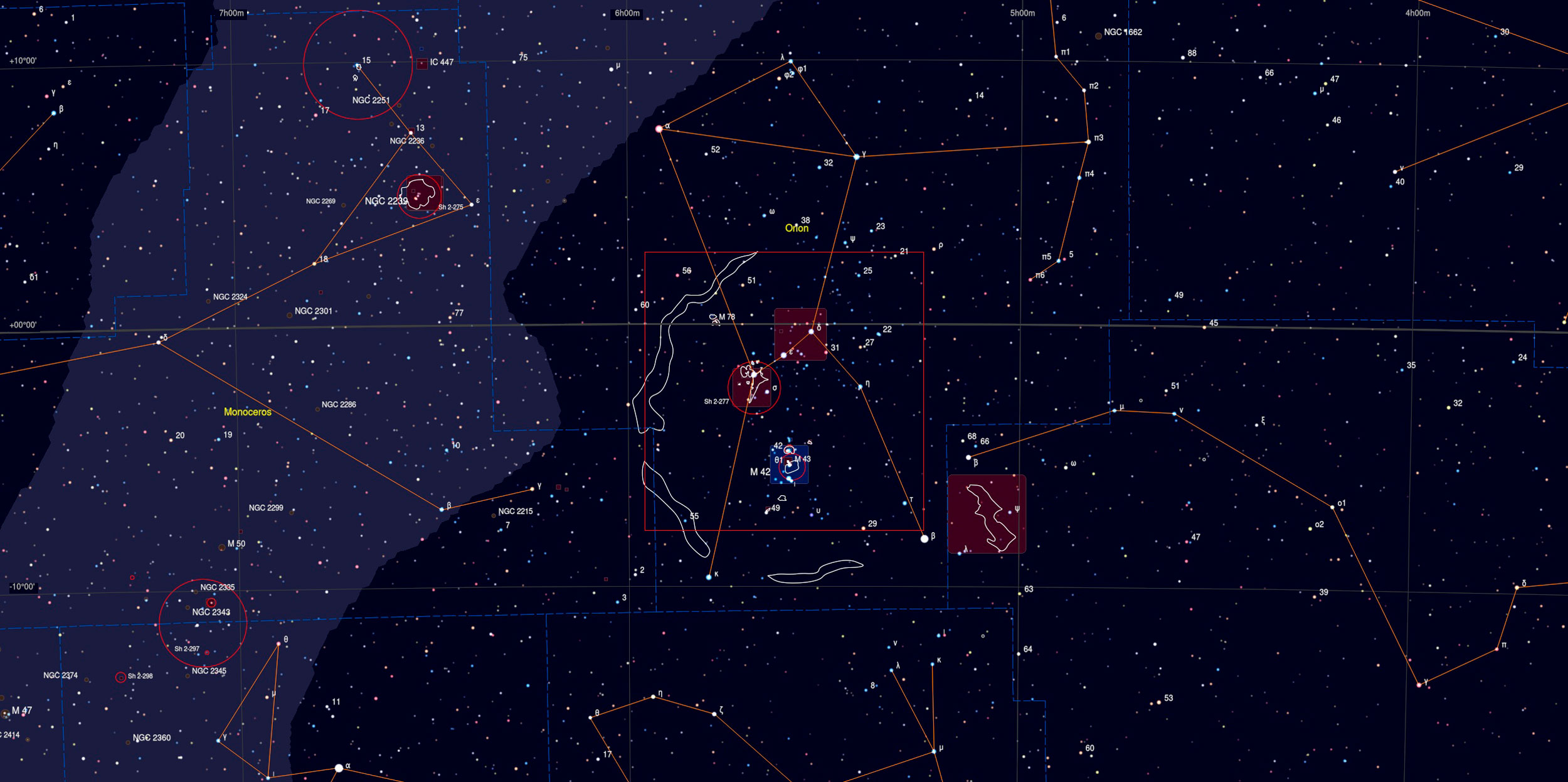 Orion Mosaic Sky Chart - Astrophotography Martin Rusterholz
