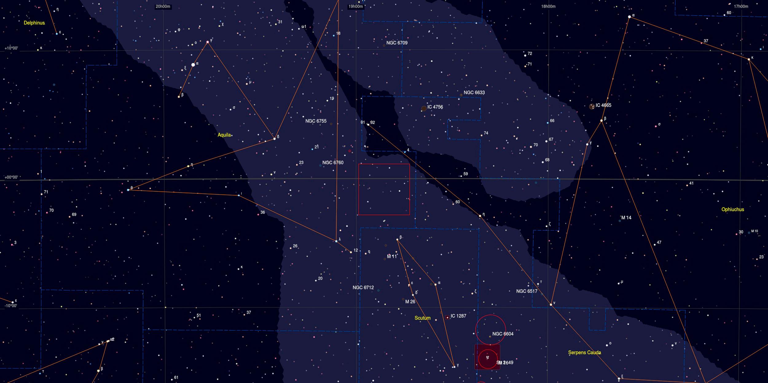 LBN 380 Region Sky Chart - Astrophotography Martin Rusterholz