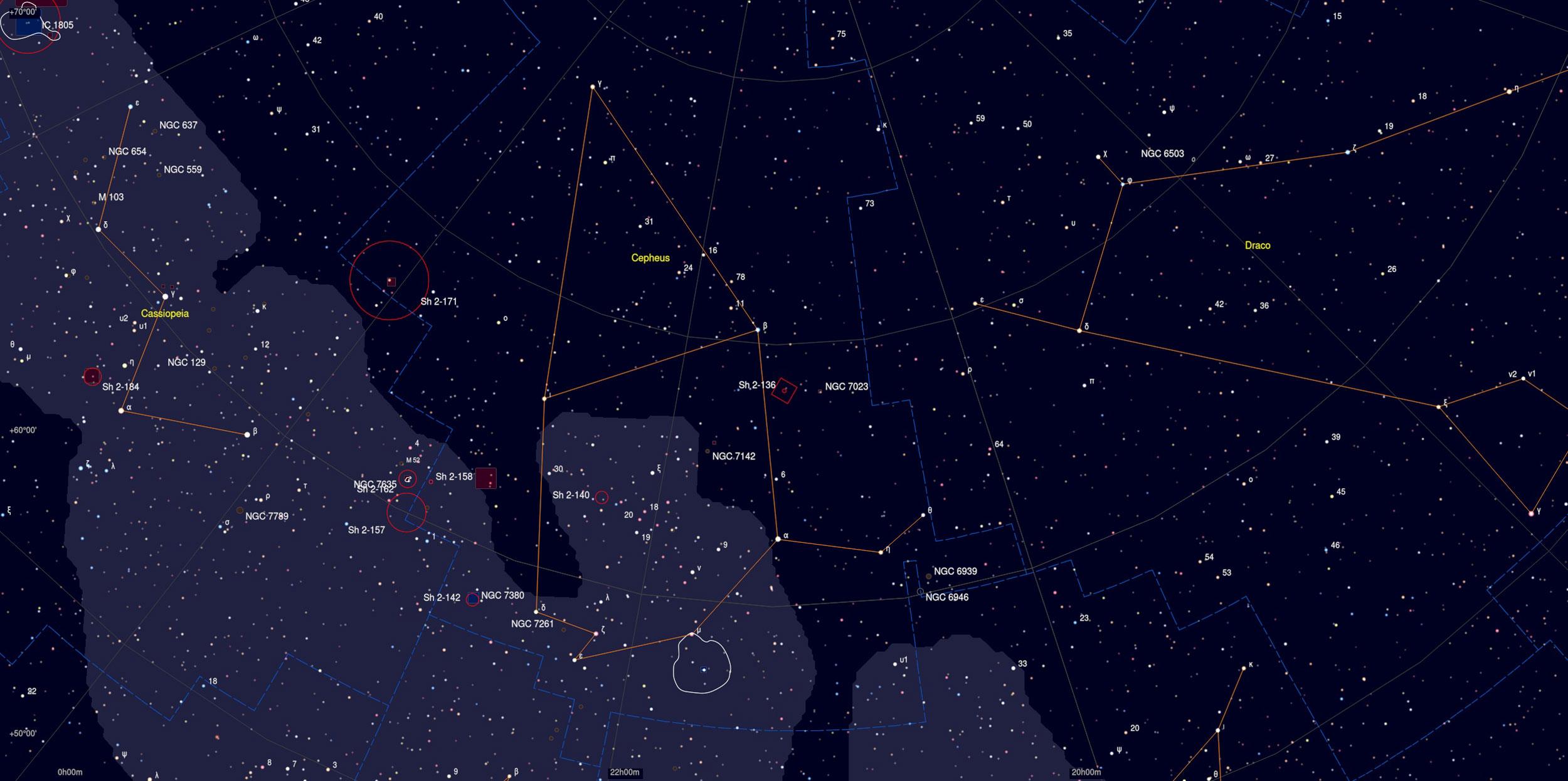 Ghost Nebula Sky Chart - Astrophotography Martin Rusterholz