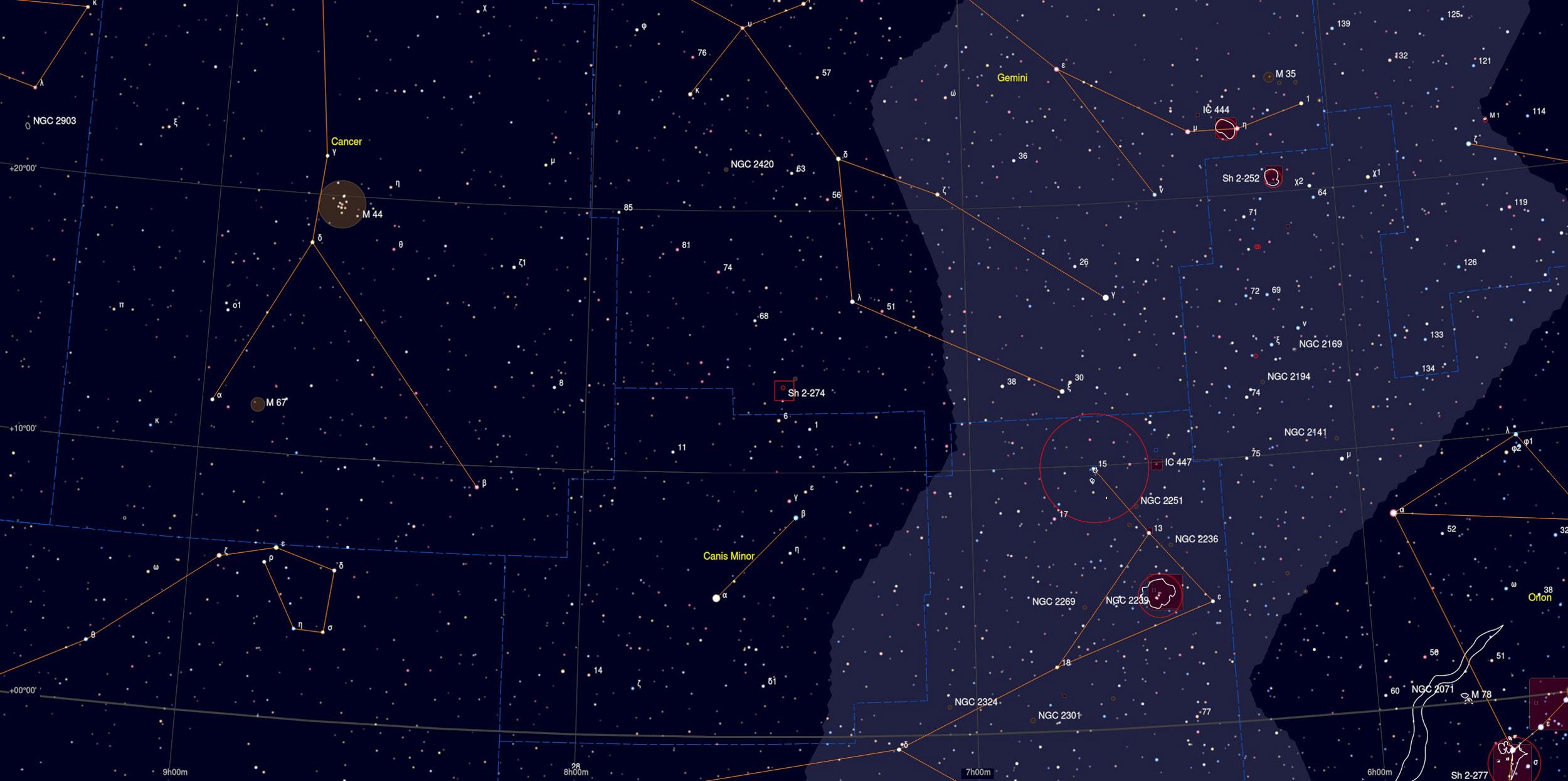 Medusa Nebula Sky Chart - Astrophotography Martin Rusterholz