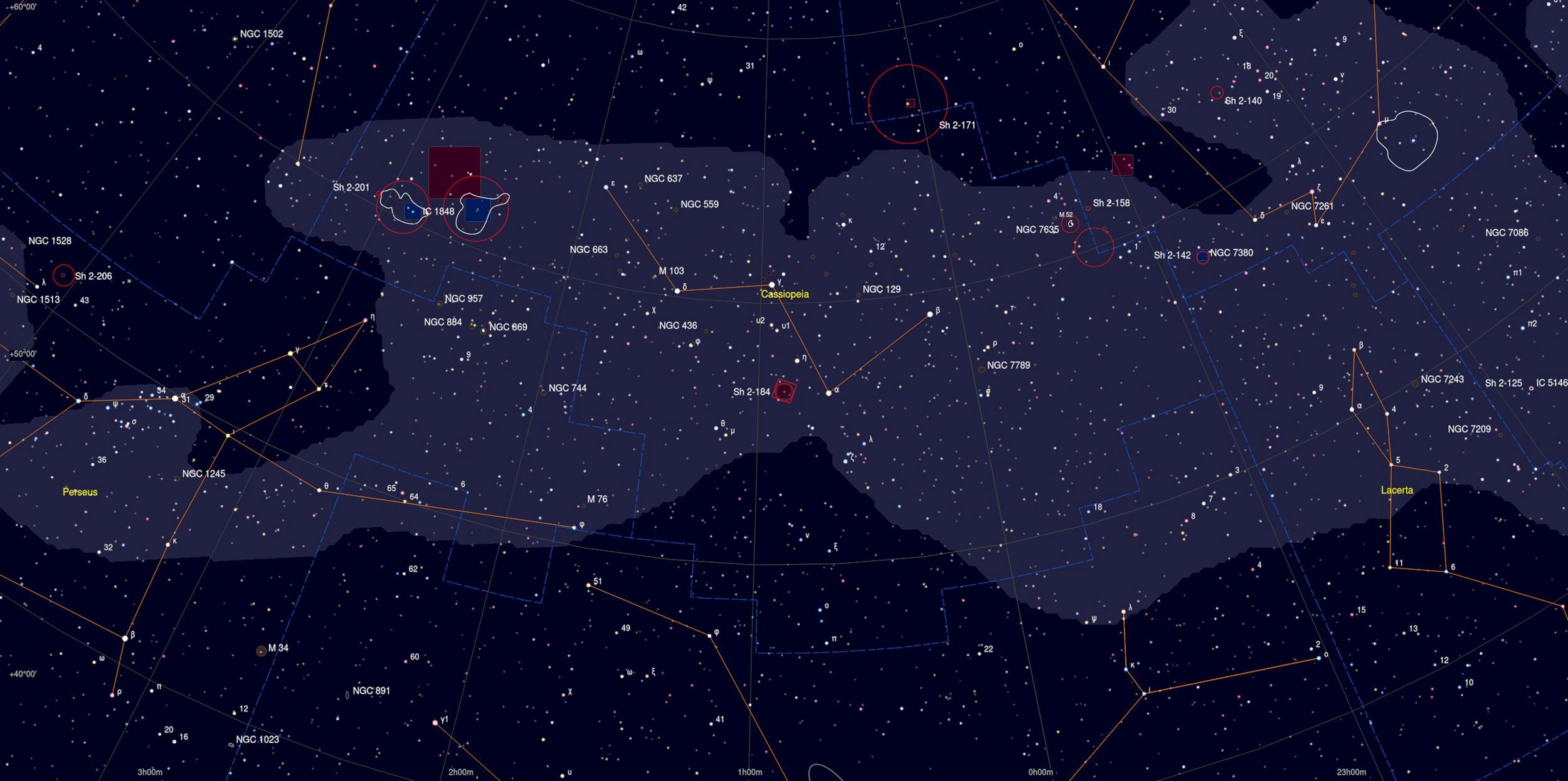 Pacman Nebula Sky Chart - Astrophotography Martin Rusterholz