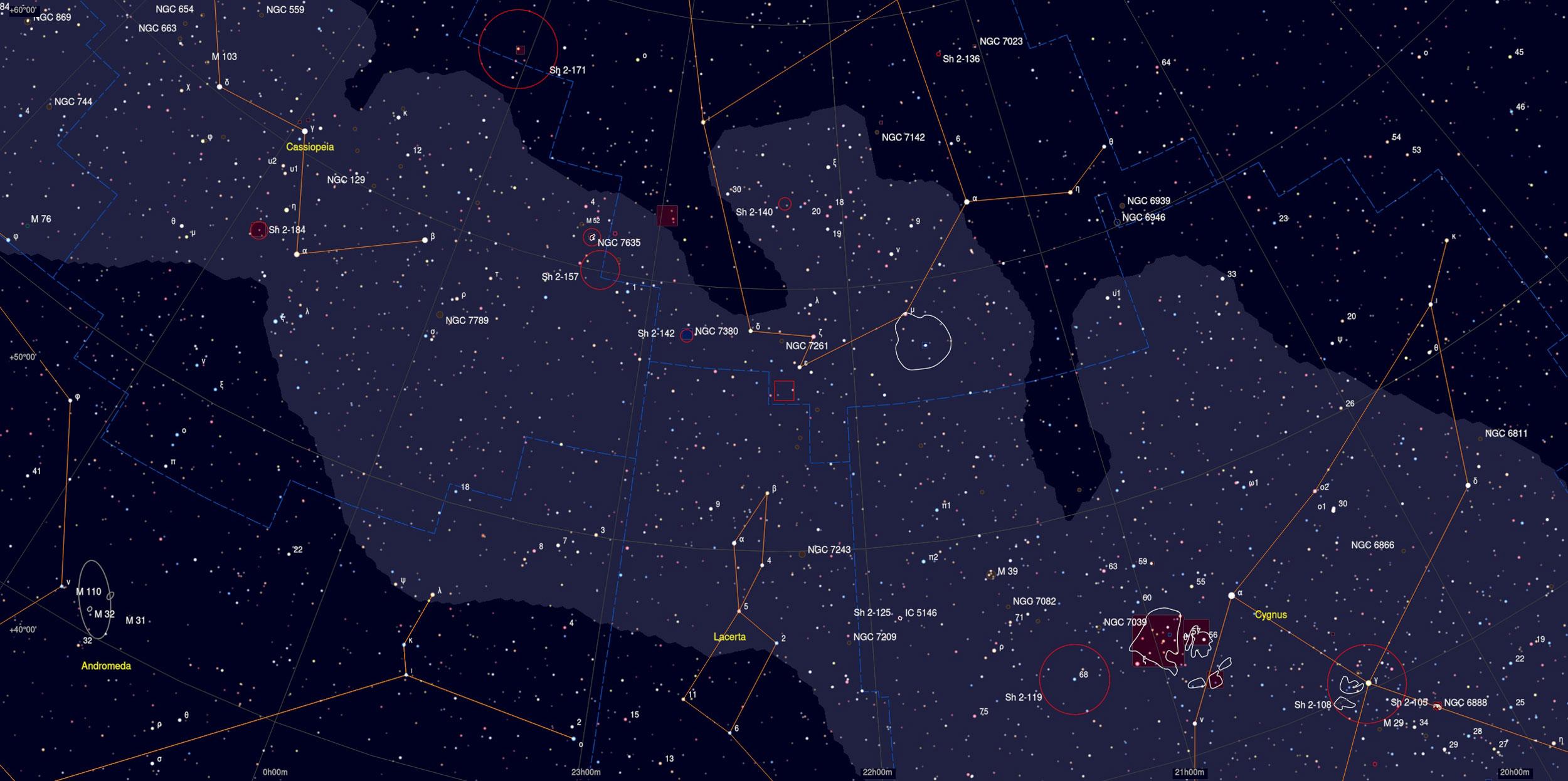 Sh2-132 Sky Chart - Astrophotography Martin Rusterholz