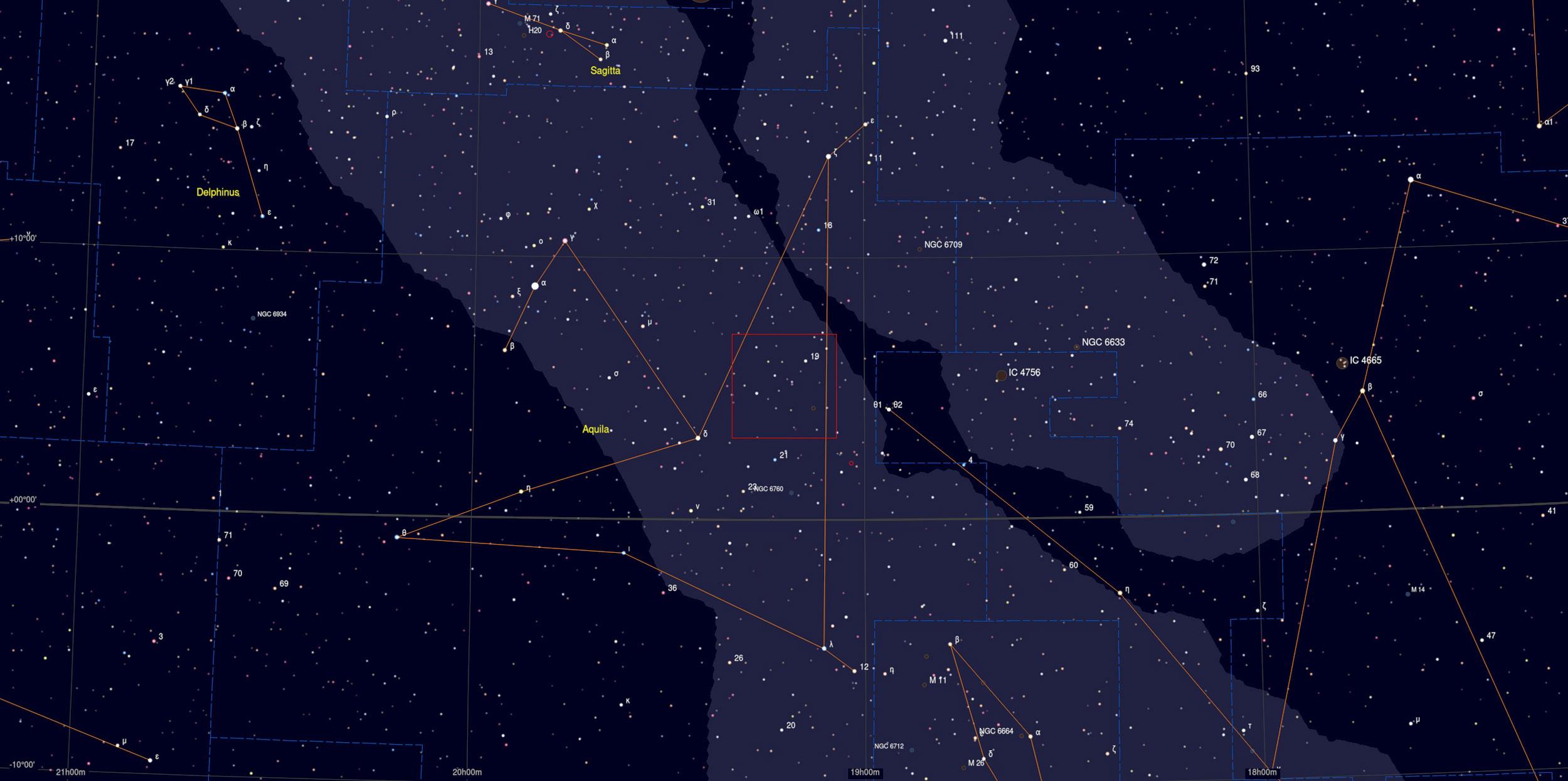 W50 Sky Chart - Astrophotography Martin Rusterholz