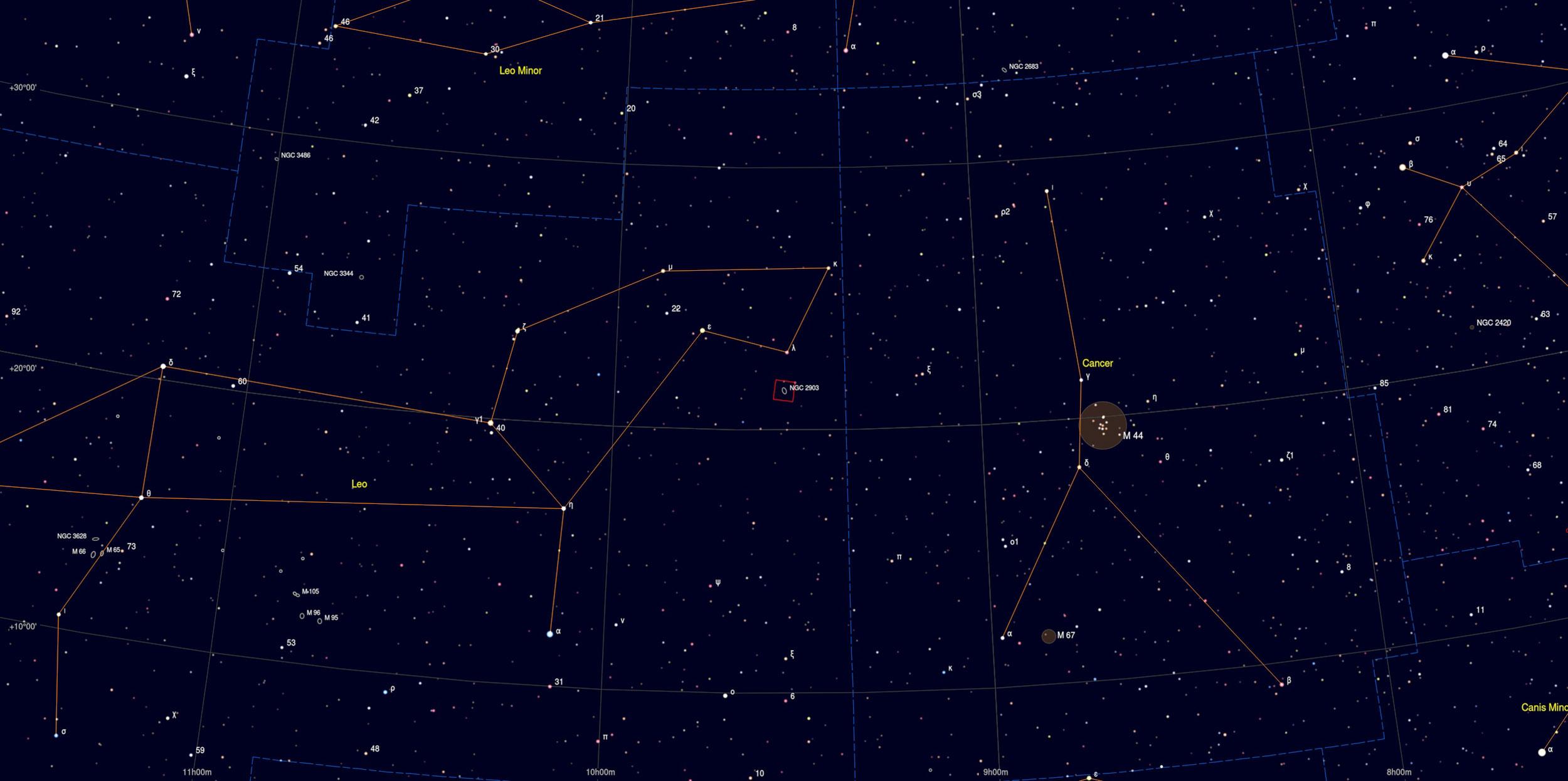 NGC 2903 Galaxy Sky Chart Astrophotography Martin Rusterholz