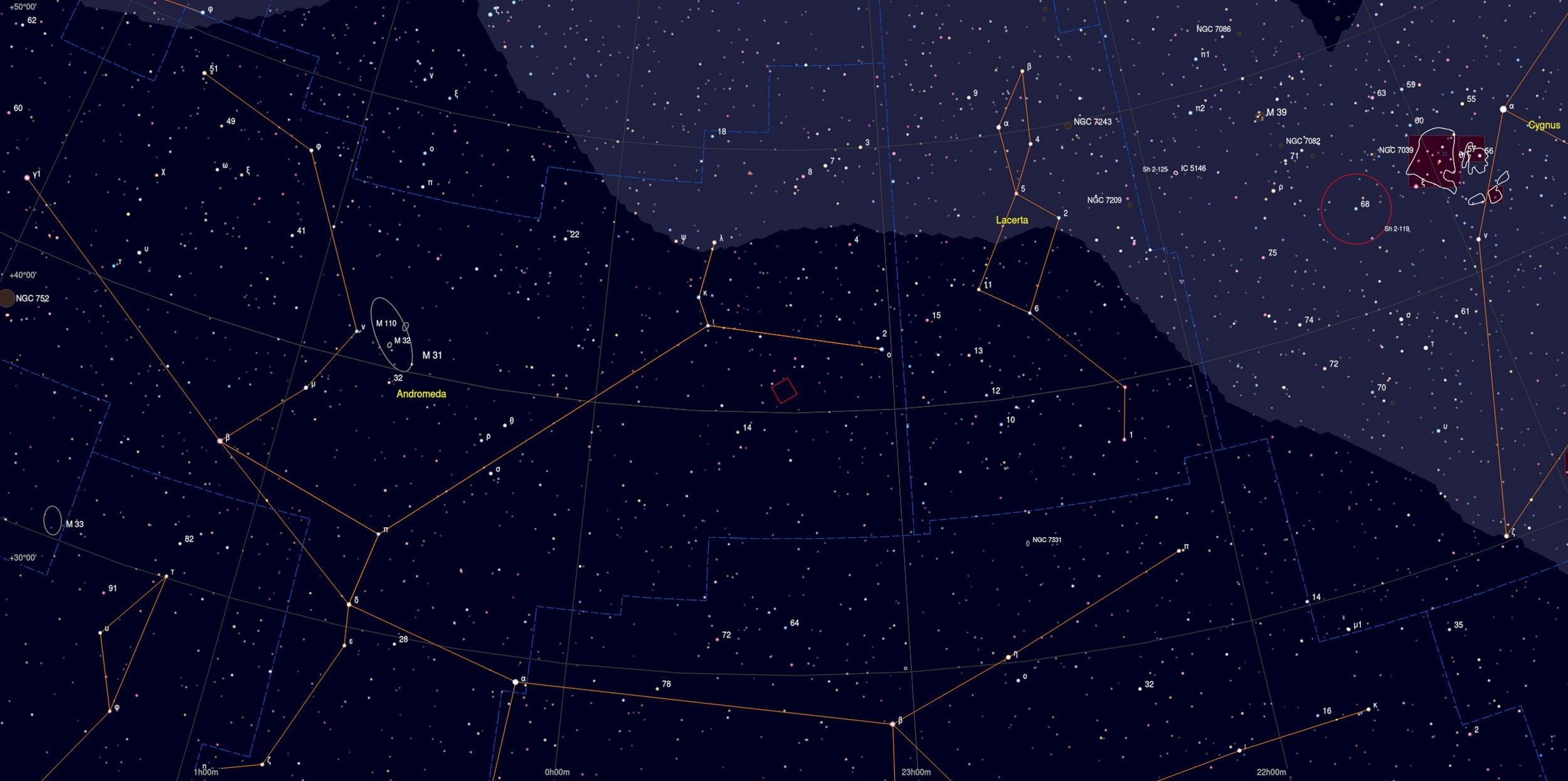 NGC 7640 Galaxy Sky Chart Astrophotography Martin Rusterholz